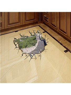 Amazing World Wonder Great Wall Removable 3D Wall Sticker