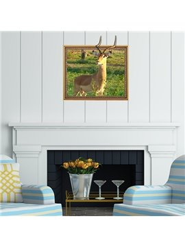 Fantastic Wild Gazelle Framed Removable 3D Wall Sticker