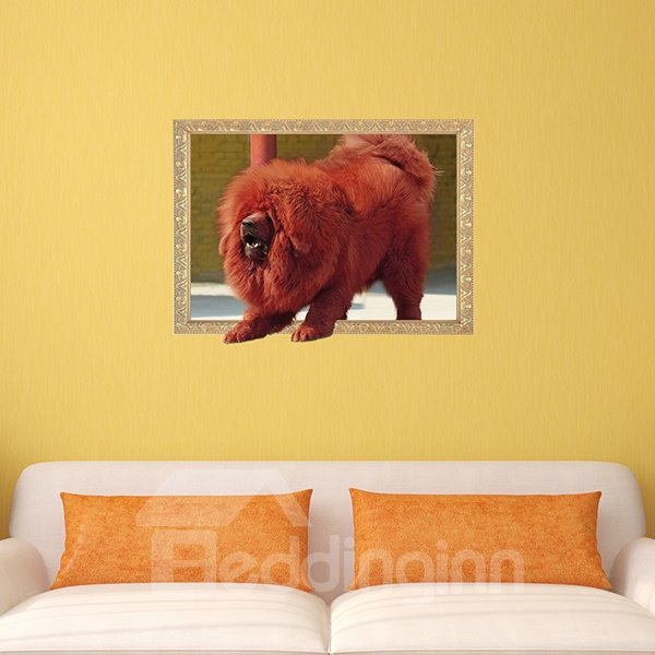 Awesome Tibetan Mastiff Removable 3D Wall Sticker