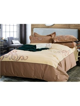 Popular Novel Design Cotton 4-Piece Duvet Cover Sets