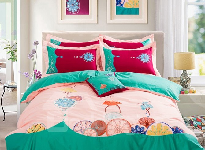 High Quality American Style Cotton 4-Piece Duvet Cover Sets