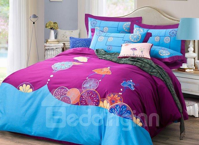 Unique Fresh Style Cotton 4-Piece Duvet Cover Sets