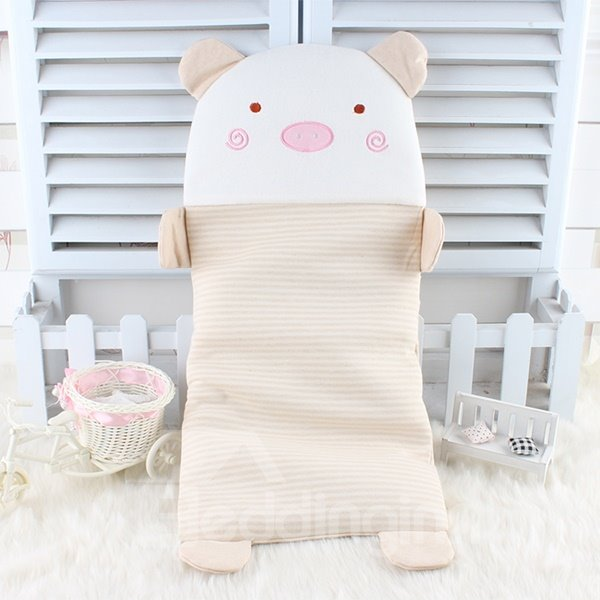Super Cute Piggy Design 100% Cotton Baby Pillow