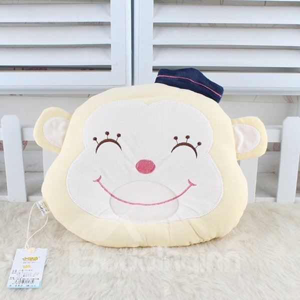 Cute Smiling Monkey Design U Shape Prevent Flat Head Baby Pillow