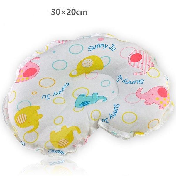 Cute Elephant Design U Shape Prevent Flat Head Baby Pillow