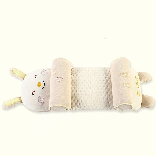 Lovely Rabbit Design Natural Organic Cotton Baby Pillow Prevent Flat Head