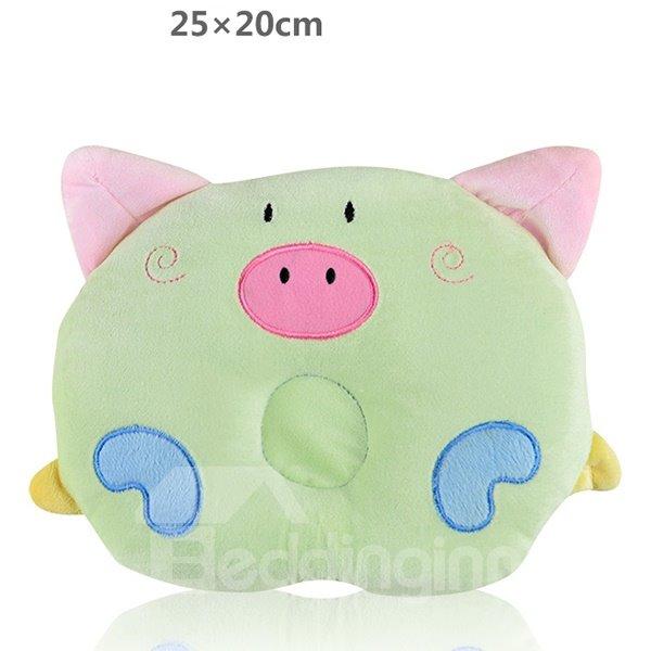 Lovely Piglet Shape Prevent Flat Head Baby Pillow