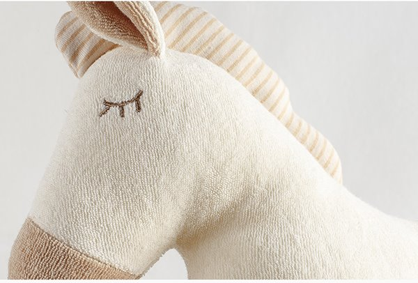 Lovely Horse Design Cotton Surface Prevent Flat Head Baby Pillow