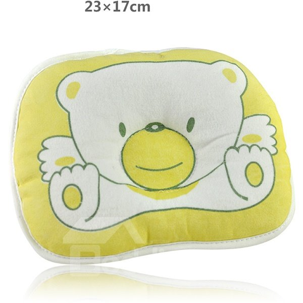 Lovely Bear Design Prevent Flat Head Baby Pillow