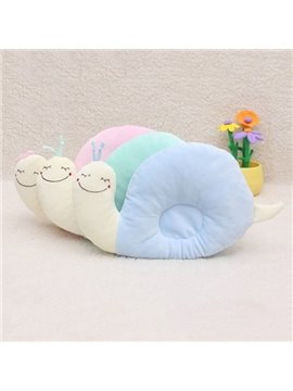 Snail Design Cotton Baby Pillow Prevent Flat Head