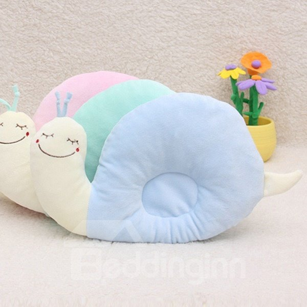 Snail Design Prevent Flat Head Cotton Baby Pillow