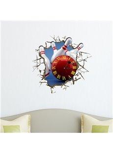 Hot Selling 3D Bowling Wall Clock