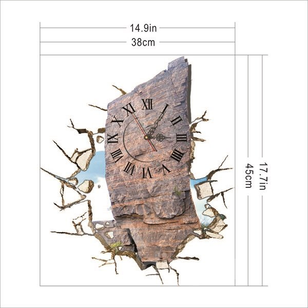 Hot Selling Stone Design 3D Wall Clock