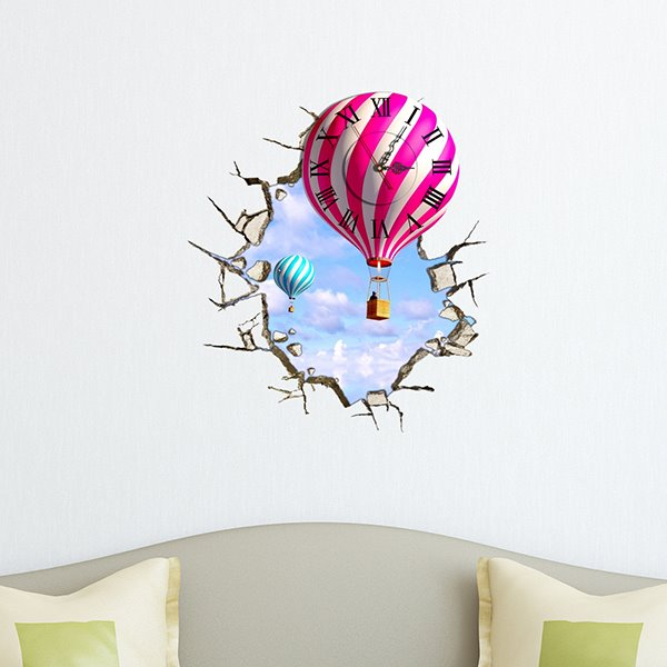 Beautiful Leisure Balloon Design 3D Wall Clock