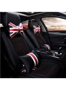 Modern Ventilate and Anti-Skid Ice Silk Five Seats Car Seat Covers