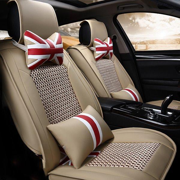 Original Modern Ventilate and Anti-Skid Ice Silk Five Seats Car Seat Covers