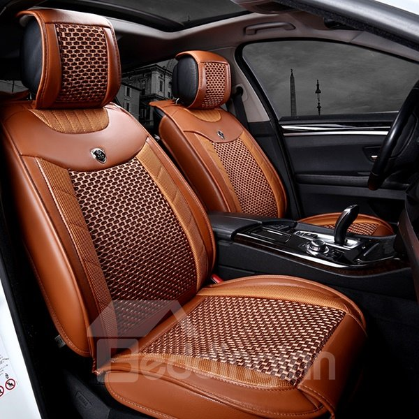 Breathable Business Style Dual Colored Five Seats Car Seat Covers