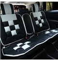 Luxurious Alternating Colors Blocks Pattern Design Universal Car Seat Covers