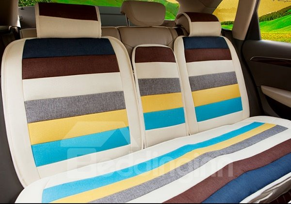 Ventilate and Antiskid Iridescent Five Seats Car Seat Cover