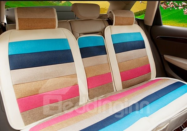 Fashionable Ventilate Dual Colored Five Seats Car Seat Cover