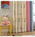 Embroidery Giraffe Pattern Polyester Cute Style Kids Curtain