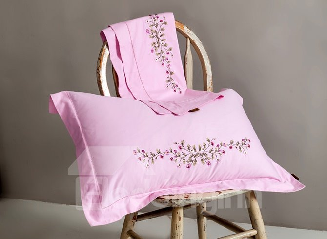 100% Cotton Country Style Embroidery 4-Piece Duvet Cover Sets