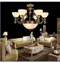European Style Brass Iron Material 6 Lights Chandelier