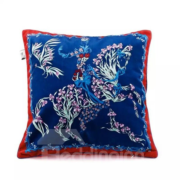 Maiden In Armour Paint Throw Pillow
