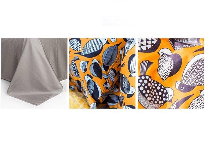Dazzling Cartoon Birds Design Cotton 4-Piece Duvet Cover Sets
