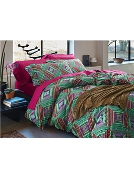Unique Artistic Pure Cotton 4-Piece Duvet Cover Sets