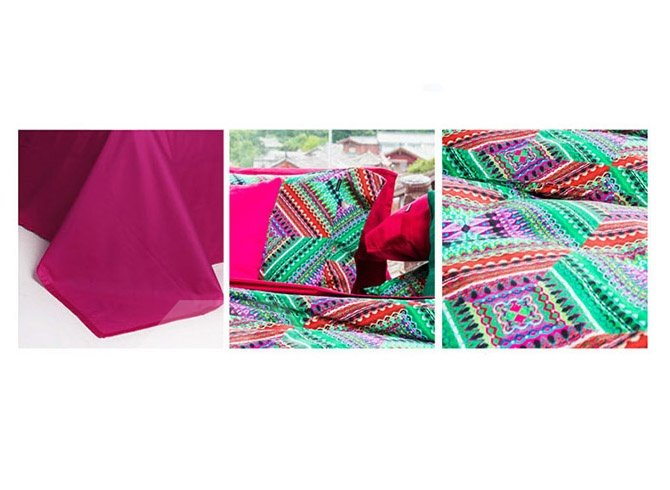Unique Artistic Pure Cotton 4-Piece Duvet Cover Sets