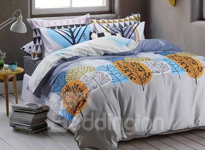 Fancy Graceful Tree Pattern Cotton 4-Piece Duvet Cover Sets