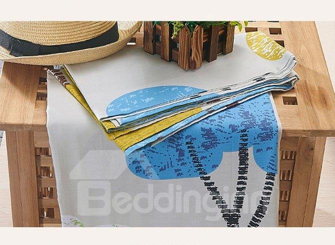 Fantastic Colorful Houses Pattern Cotton 4-Piece Duvet Cover Sets