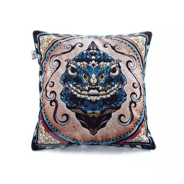 Snake Totem Paint Throw Pillow