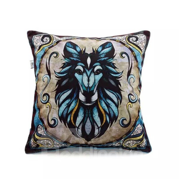 Horse Totem Paint Throw Pillow