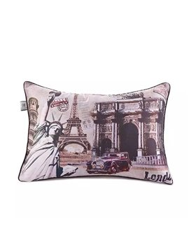 Granny-Chic Europe and America Scenery Paint Throw Pillow