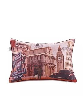 British Scenery Paint Throw Pillow