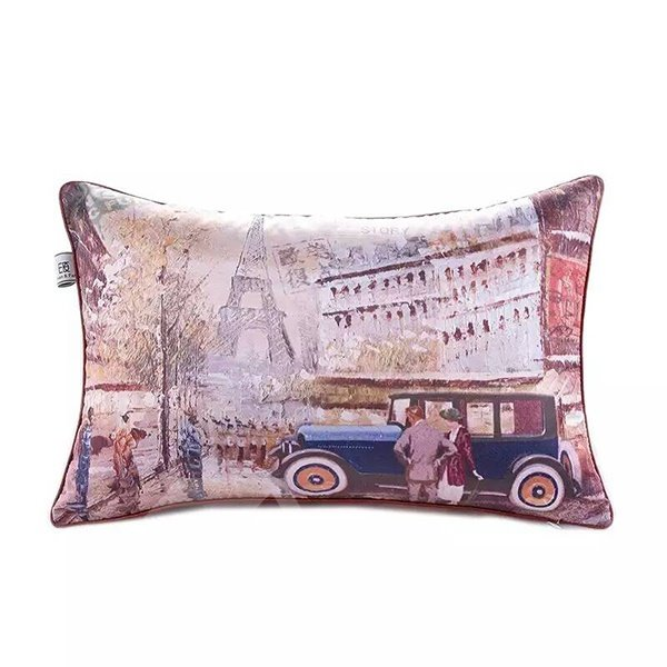 Europe Scenery Paint Throw Pillow