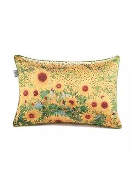 Golden Sunflowers Paint Throw Pillow