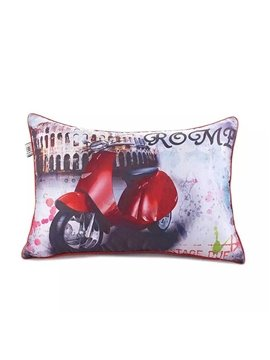 New Arrival Red MotorcyclePaint Throw Pillow