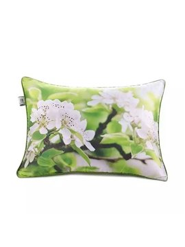 Thriving Peach Blossoms Paint Throw Pillow