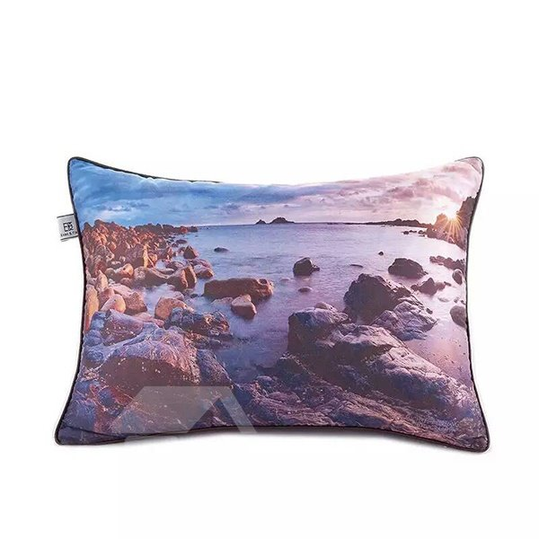 Sunrise in the Seaside Paint Throw Pillow