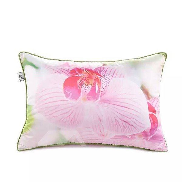 Glorious Pink Flower Paint Throw Pillow