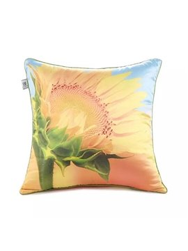 Yellow Sunflower Paint Throw Pillow