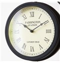 American Style Fashion Iron Double sides Wall Clock for Living Room