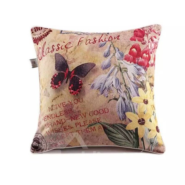 Butterfly and Stramonium Paint Throw Pillow