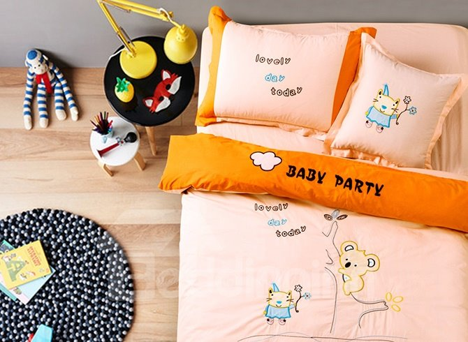 Sweet Party Animal Print Kids 100% Cotton Duvet Cover Sets