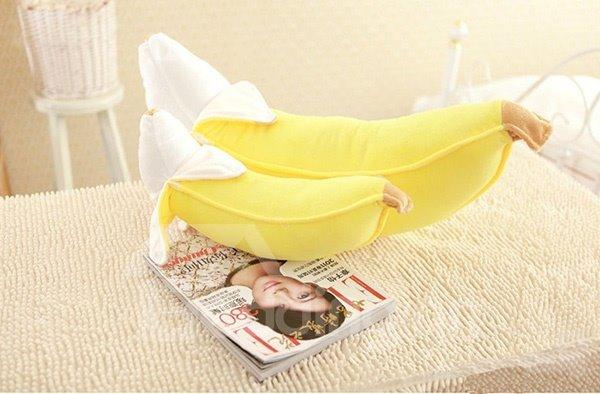 New Arrival Creative Vivid Banana Design Throw Pillow
