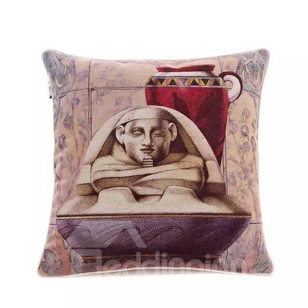 Egyptian Mummies Paint Throw Pillow