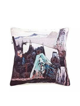 Chinese Ink Landscape Paint Throw Pillow